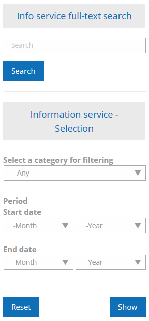 Information service selection